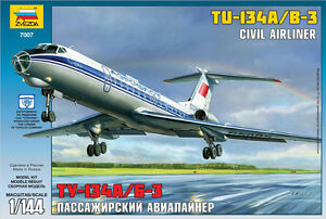 Zvezda 7007 Civil Airliner TU-134A/B-3 1/144