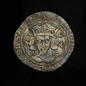 English-Medieval-Silver-King-Henry-VI-Groat-Coin-Ex-Brackley-Hoard