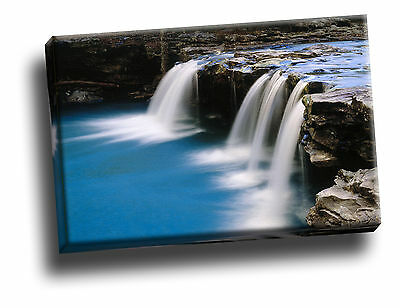 Falling Water Creek, Pope County, Arkansas Canvas Framed Picture Wall Art