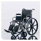 """Medline Excel 2000 Wheelchair, Removable Full-Length Arms, Swing-Away Detachable Footrests, 18"""" W, 300 lb. W... (MDS806250RBY)"""