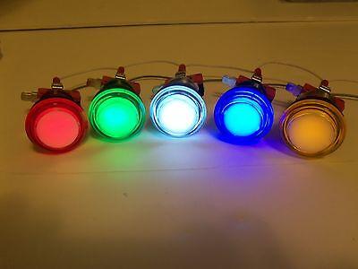 LED lit  Arcade Push Buttons MAME Multicade