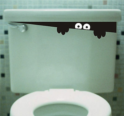 Toilet Monster Bathroom wall art decal sticker funny kids