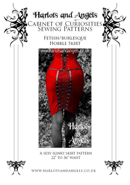 "Fetish Hobble Club wear Wiggle ""Corset"" skirt Sewing Pattern UK  sizes 6 to 20"