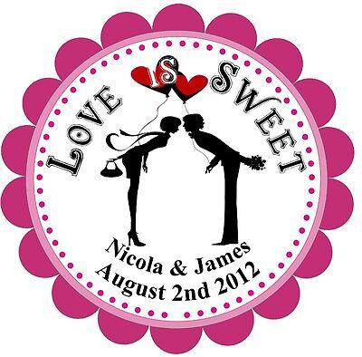 Personalised Wedding Favors/Envelope Labels- LOVE IS SWEET