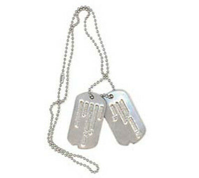 Embossed Military Dog Tags - Personalized with Silencers (set of 2)