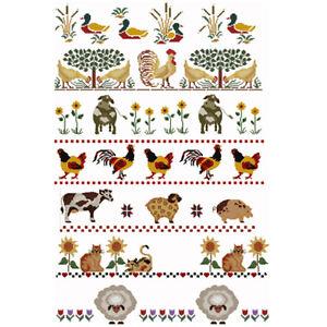 PC Stitch Pattern Pieces Farm Animals I Cross Stitch Patterns CD