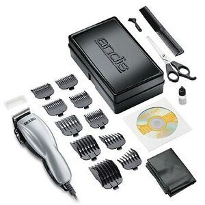 Andis-18645-Silver-Clipper-Home-Haircutting-Hair-Cut-19-Piece-Kit-Set-DVD-NEW