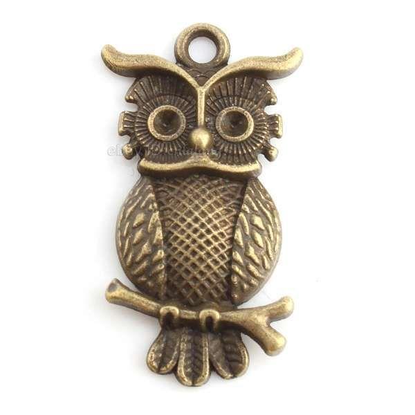 20pcs 143641 Charms Wholesale Owl Animal Vintage Bronze Alloy Pendant Findings