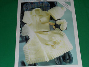 Babies-blanket-jacket-hat-mitts-and-boots-size-12-22-knitting-pattern