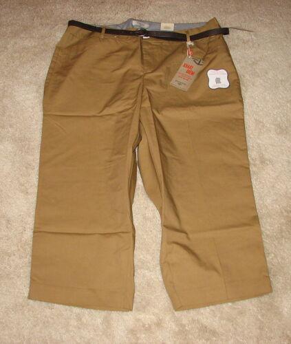 Dockers Women/'s Metro Straight Leg Low Capris Pants COLORS NWT BELT SIZES