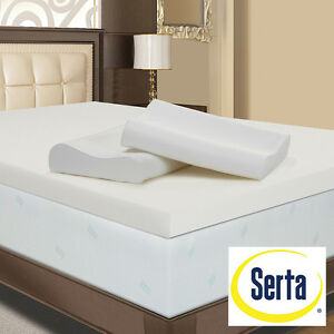 New Serta 4 Inch Memory Foam Mattress Topper With Contour