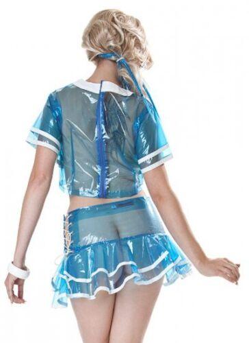 blau Gr 3XL ohne Top Lackina PVC-EVA Matrosen Rock