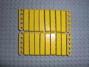 LEGO-Technic-20x-Lochbalken-Lochstange-Liftarm-beam-1x5-gelb-yellow-32316
