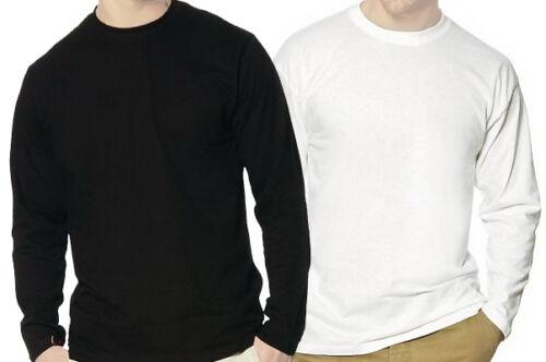 Gr S bis XXL Longsleeve weiß oder schwarz Langarm Shirt