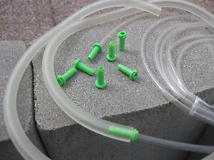 3-m-PVC-Schlauch-5-St-Gruen-Adapter-fuer-Schlaeuche-4-bis-5-mm-fuer-Bastler
