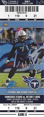 2012 NFL DETROIT LIONS @ TITANS FULL UNUSED FOOTBALL TICKET