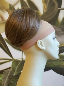 MEDIUM-BROWN-WITH-HIGHLIGHTS-034-BEEHIVE-034-BUN-HAIR-PIECE-EXTENSION-UK-SELLER