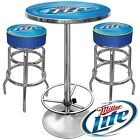 Trademark Global Ultimate Miller Lite Gameroom Combo Two Bar Stools and Table (ML9800)