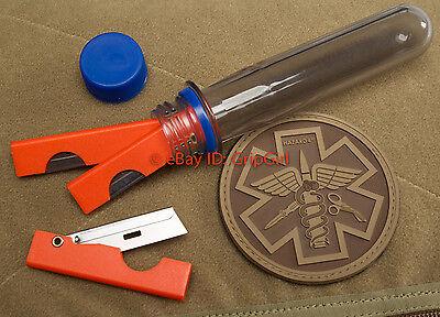3x Orange EMT Scalpels + Sharps Container IFAK Kit First Aid Medic EDC Gear