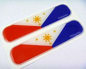 Philippines Flag Domed Decal Emblem Chrome Car Flexible Sticker - Car sticker decals philippines
