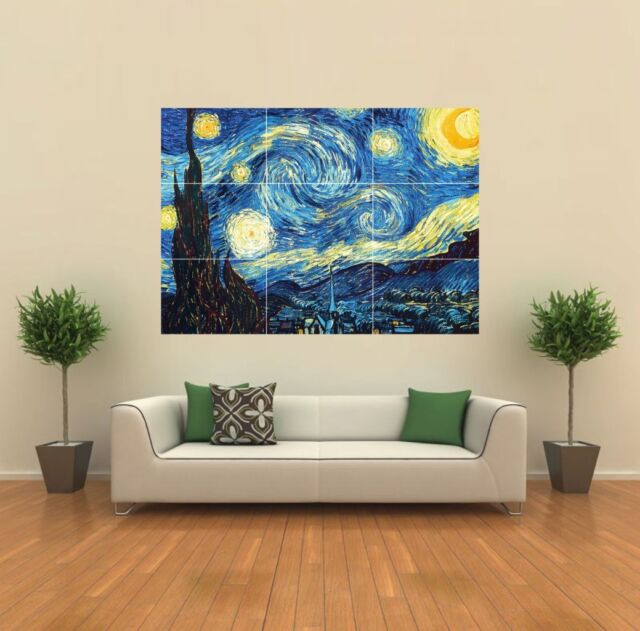 STARRY NIGHT VAN GOGH GIANT PRINT PICTURE POSTER G185