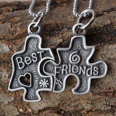 Jigsaw Puzzle best friends Love Friendship bestfriends split pewter Pendant