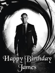 personalised daniel craig / james bond birthday greeting card with, Birthday card