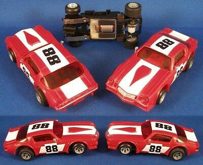 1980 Ideal TCR Rare SLOTTED Slot Car Camaro Z-28 Red 88