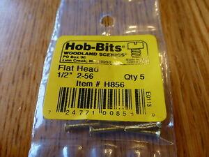"""Woodland Scenics Hob-Bits #856 / 2-56 Flat Head Screws - Brass, pkg(5) - 1/2"""""""
