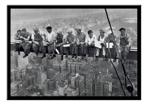 Lunch On A Skyscraper Poster Men On Girder New York Black Framed Ready To Hang