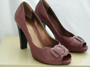SERGIO-ROSSI-SHOES-heels-BROWN-peep-toe-buckle-36-6