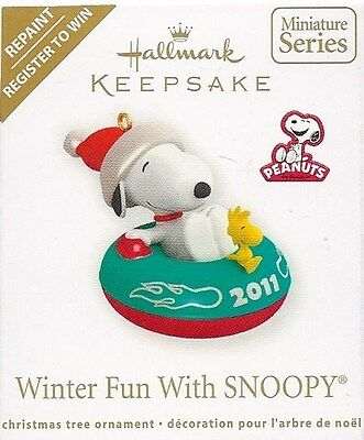 Hallmark 2011 Winter Fun with Snoopy Peanuts Register to Win