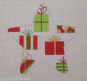 Raymond-Crawford-Christmas-Presents-Star-HP-Needlepoint-Canvas-18-Count