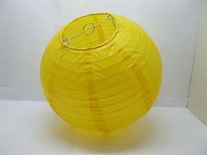 10Pc-New-Plain-Yellow-Paper-Lanterns-Wedding-Favor-30cm