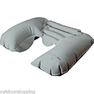 Design Go Snoozer Pillow - Travel, Inflatable, Fits Snugly Around Your Neck