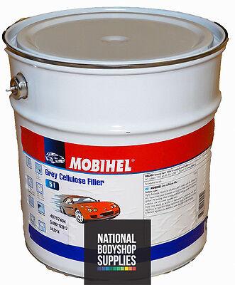 MOBIHEL 1K CELLULOSE HIGH BUILD GREY PRIMER FILLER 5L Car/Industrial use