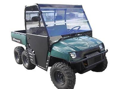 02-08 Polaris Ranger 800,700 Clear Folding Windshield..1/4 Thick Polycarbonate!