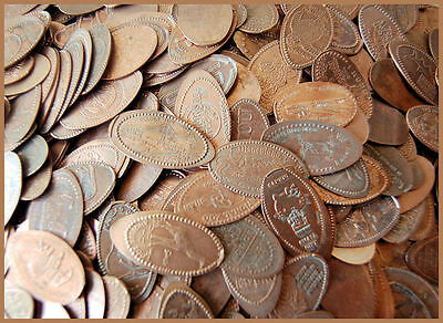 LOT OF  1000 ELONGATED PRESSED PENNIES / ZOO'S, AMUSEMENT PARKS, PLACES, & MORE