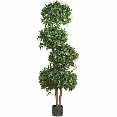 "Decorative Artificial 69"" Sweet Bay Topiary w/4 Balls Silk Tree Faux Fake Plants"