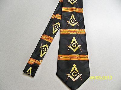 Mason, Masonic, Freemasonry, Fraternal, square + compass quality mens necktie #7
