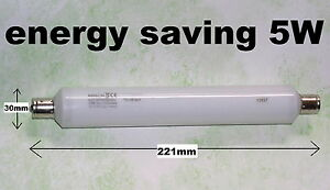 5W-ENERGY-SAVING-CUPBOARD-PICTURE-LIGHT-BULB-221mm-warm-white-S15-strip-lamp