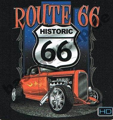 T-Shirt #428 HOT ROD ROUTE 66, Dragster, Biker, Dragster, Oldtimer