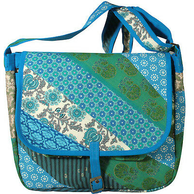 Patchwork Messanger Bags Handmade in India | Fair Trade | Recycled Materials