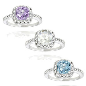 925-Silver-Gemstone-Diamond-Square-Ring-3-Options