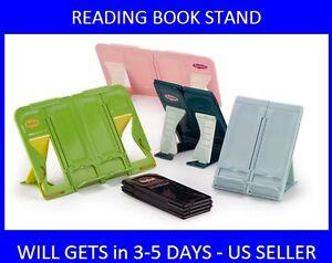 Folding-Stand-Reading-Desk-Portable-Book-Holder-Tranform-MADE-IN-KOREA-PINK
