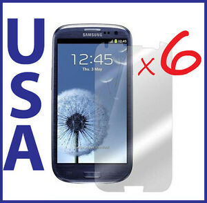 6-pc-Clear-Screen-Protector-Guard-for-Samsung-Galaxy-SIII-S3-i9300T999-i535-L710