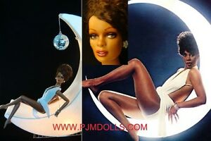 SEXY-OOAK-DONNA-SUMMER-CELEBRITY-TRIBUTE-REPAINT-ART-LAMP-16-034-DOLL-SWAROVSKY