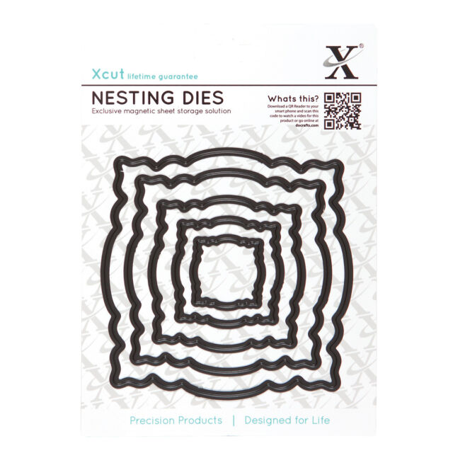 X cut 5 pc nesting dies ornate frames Use Xcut, sizzix, big shot machines