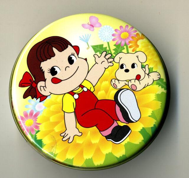 Japanese Peko Milk Girl Tin box no candy - 8 designs pick 1