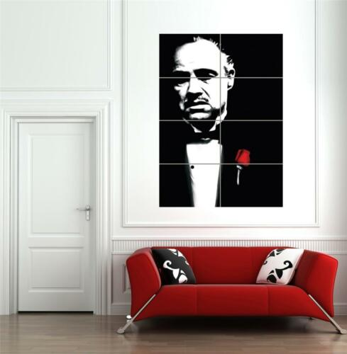 THE GODFATHER MARLON BRANDO GIANT POSTER ART PRINT  B1297